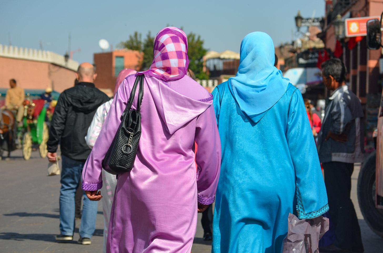 Conservatieve kleding in Marrakech