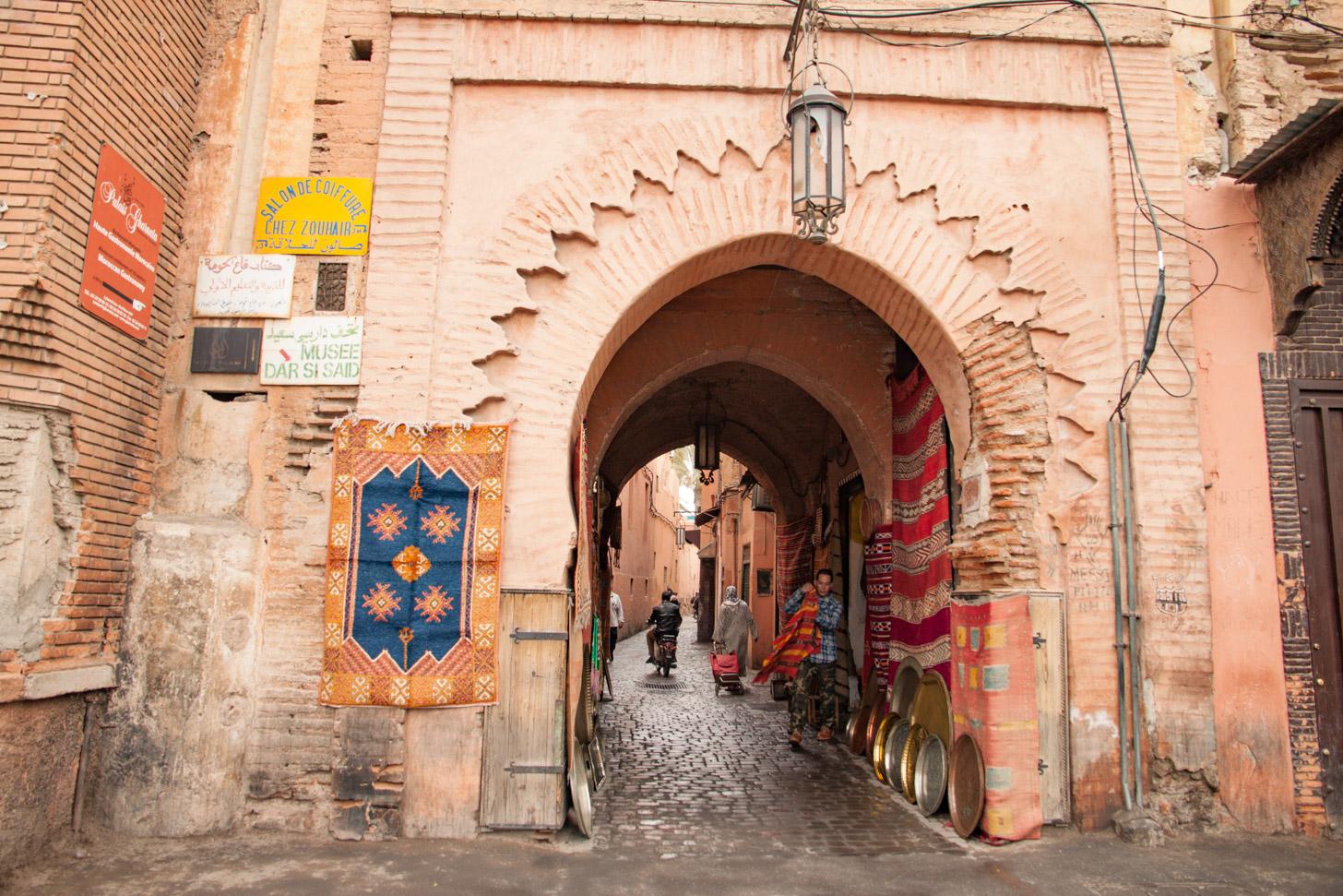 De oude binnenstad van Marrakech