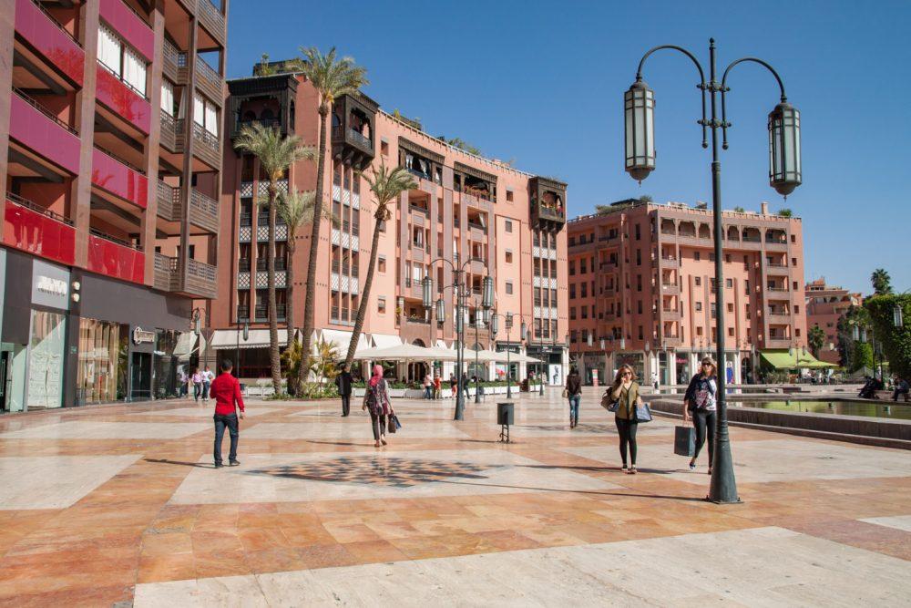 Het nieuwe deel van de stad