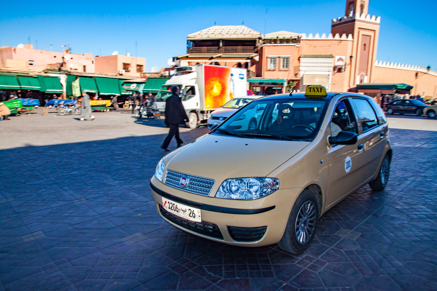 Een taxi in Marrakech